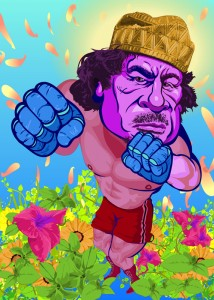 pretty dictator series -pretty Gadhafi-